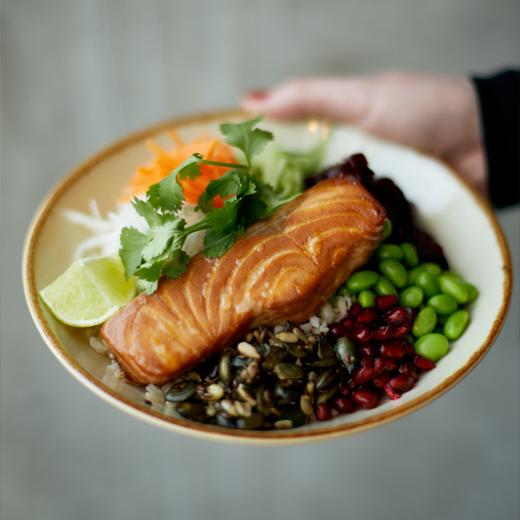 Bowl Teryaki Salmon